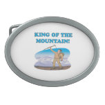 King Of The Mountain Oval Belt Buckles