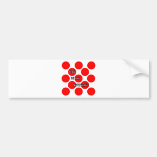 King of the Mountains Dots Car Bumper Sticker