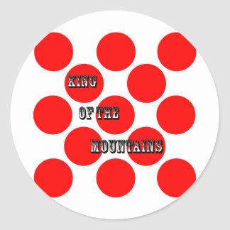 King of the Mountains Dots Classic Round Sticker