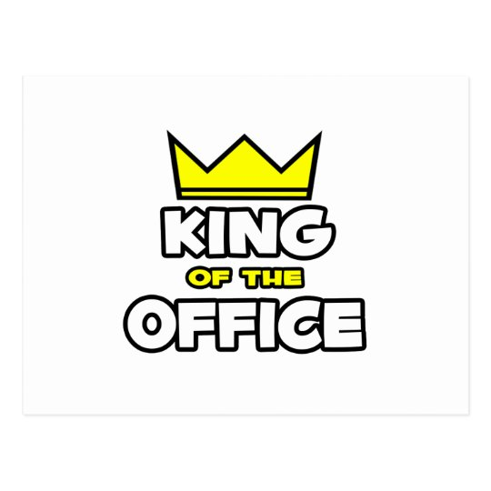 King of the Office Postcard