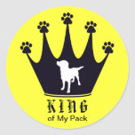 King of the Pack Classic Round Sticker
