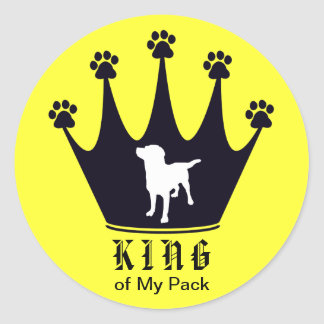 King of the Pack Round Sticker