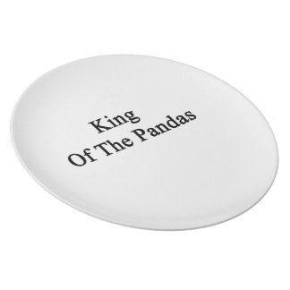 King Of The Pandas Plate
