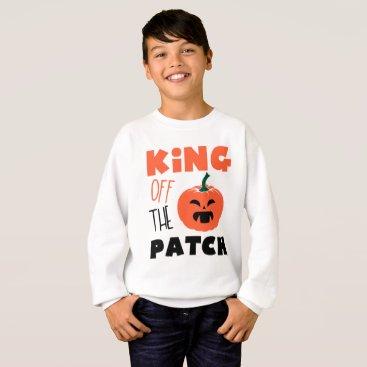 Halloween Themed King of the patch Halloween pumpkin Creepy boy Sweatshirt