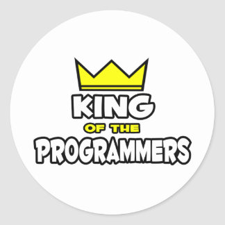 King of the Programmers Classic Round Sticker