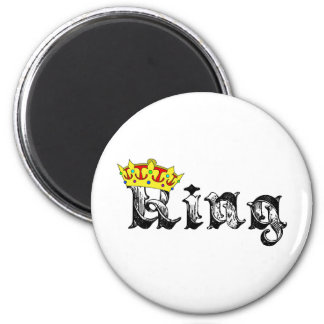 King of the Realm 2 Inch Round Magnet