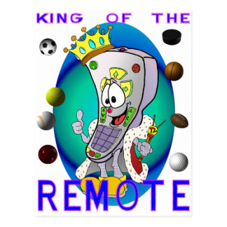 KING of the REMOTE Postcard