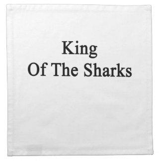 King Of The Sharks Napkin