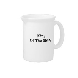 King Of The Sheep Beverage Pitcher