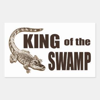 King of the Swamp - Gator Hunter Rectangular Sticker