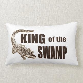 King of the Swamp - Gator Hunter Throw Pillow