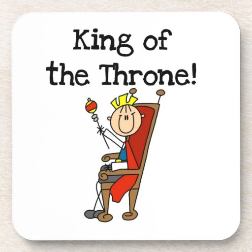King of the Throne Drink Coasters