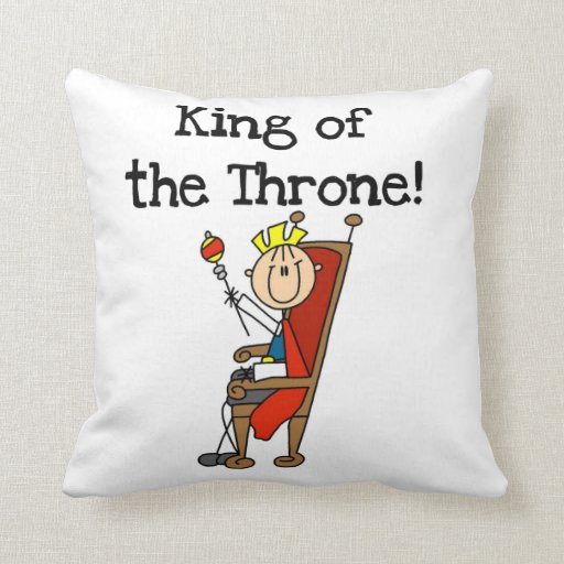 King of the Throne Throw Pillow