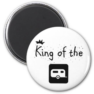 King of the Trailer Park Funny Logo Design 2 Inch Round Magnet