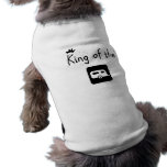 King of the Trailer Park Funny Logo Design Doggie T Shirt