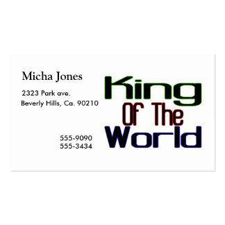 King Of The World Business Card