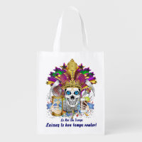 King of Time Mardi Gras Carnival View about Design Grocery Bag