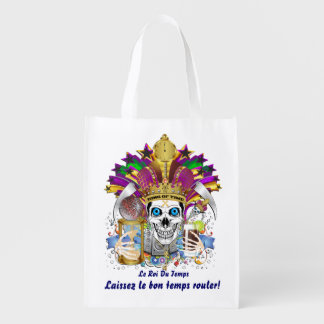 King of Time Mardi Gras Carnival View about Design Reusable Grocery Bags