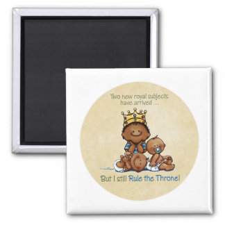 King of Twins African American Big Brother magnet