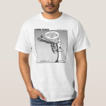 """King on the edge"" Chess Peace cartoon T-Shirt"