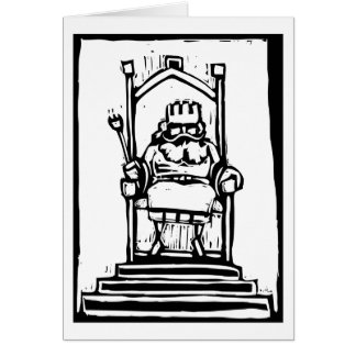 King on Throne Card