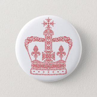 King or Queen Crown Pinback Button