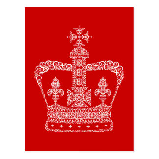 King or Queen Crown Postcard
