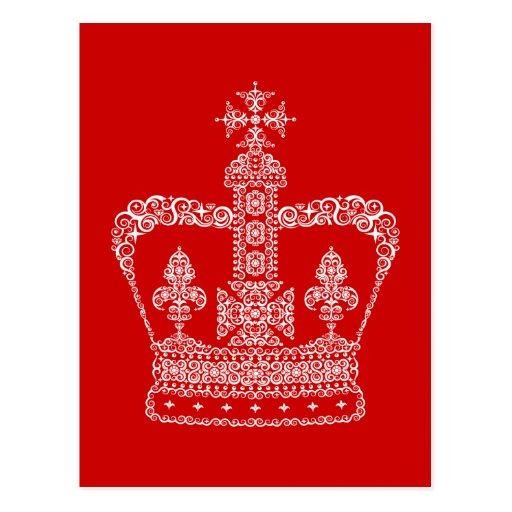 King or Queen Crown Postcard