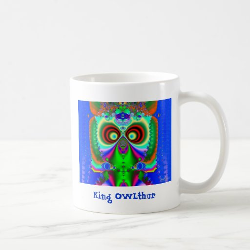 King OWLthur Classic White Coffee Mug