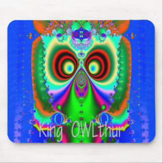 King OWLthur Mouse Pad