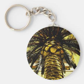 King Palm Basic Round Button Keychain
