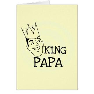King Papa T-shirts and Gifts Greeting Card