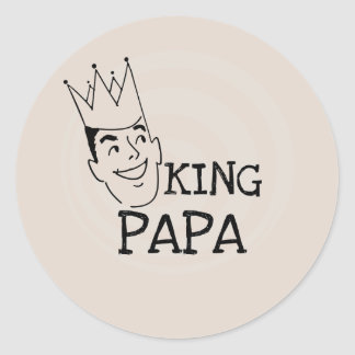 King Papa T-shirts and Gifts Classic Round Sticker