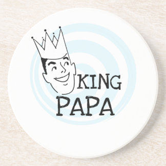 King Papa T-shirts and Gifts Drink Coasters