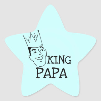 King Papa T-shirts and Gifts Star Sticker