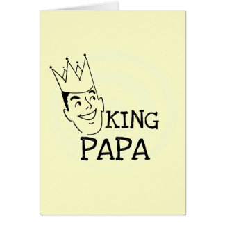 King Papa T-shirts and Gifts Stationery Note Card