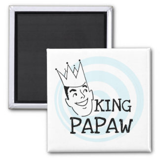King Papaw T-shirts and Gifts 2 Inch Square Magnet