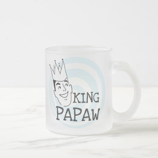 King Papaw T-shirts and Gifts Frosted Glass Coffee Mug