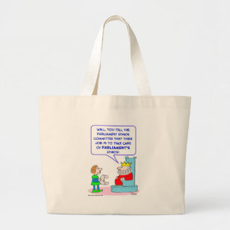 king parliament ethics committee large tote bag