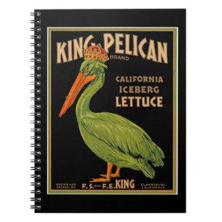 King Pelican Brand Lettuce Notebook
