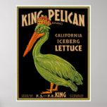 King Pelican Brand Lettuce Poster
