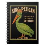 King Pelican Brand Lettuce Spiral Notebook