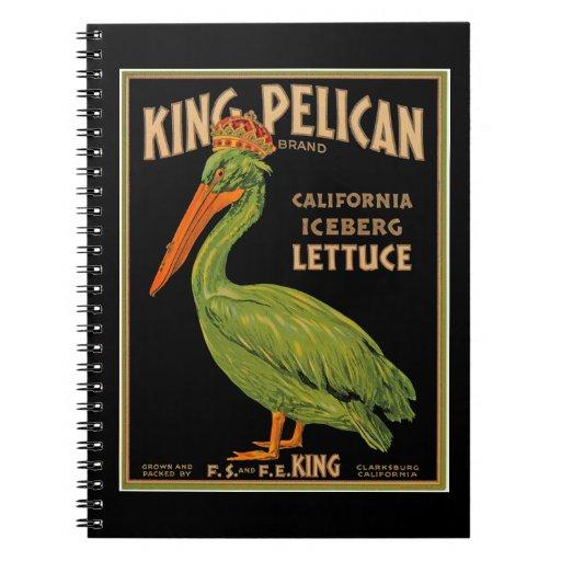 King Pelican Brand Lettuce Spiral Notebook