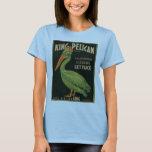 King Pelican Fruit Crate Label T-Shirt