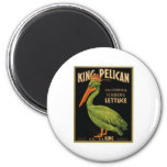 King Pelican Lettuce 2 Inch Round Magnet