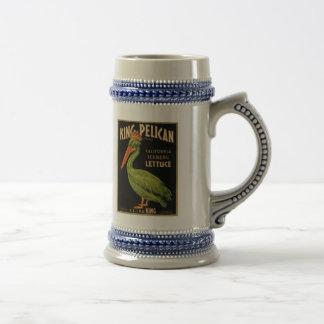 King Pelican Lettuce Beer Stein