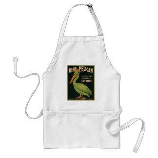 King Pelican Vintage Label Aprons