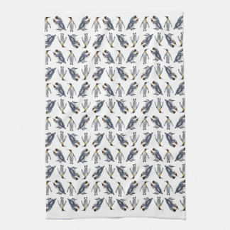 King Penguin Frenzy Kitchen Towel (Choose Colour)