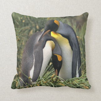 King Penguin Lovers Throw Pillow