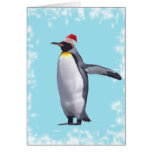 king penguin New year2 Greeting Card